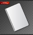 notebook on transparent background vector image vector image