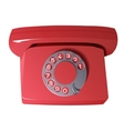 old phone in red colors vector image
