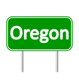 Oregon green road sign vector image