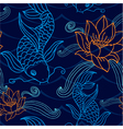 Oriental seamless tile vector