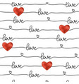 pattern for valentines day simple line seamless vector image vector image