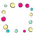 polka dot frame with comic pop art confetti vector image vector image