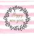 poster with calligraphic happy new year sign vector image vector image