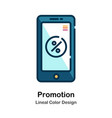 promotion lineal color icon vector image vector image
