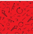 Seamless doodle ink pointer and arrow pattern vector image vector image