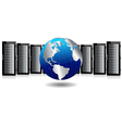 Servers with Silver Globe vector image vector image