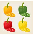 Set of Colored Yellow Green Orange and Red Sweet vector image vector image