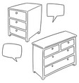 set of drawer vector image