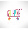 shopping bus symbol Marketing background vector image
