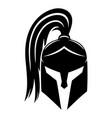 sign of black spartan helmet vector image