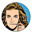 silence girl mouth over zipper closure vector image vector image