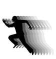silhouette of running man on a white background vector image vector image