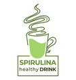 spirulina algae leaves healthy drink for detox and vector image