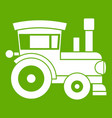 toy train icon green vector image vector image