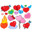 valentine hearts collection 1 vector image