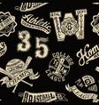 vintage baseball badges and prints wallpaper vector image