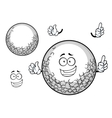 White golf ball cartoon character vector image vector image