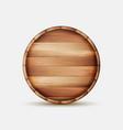barrel wooden sign wooden barrel signboard vector image