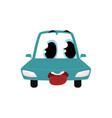 cartoon comic style car character wih human face vector image