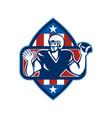 American Football Quarterback Throw Ball vector image vector image