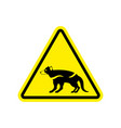 attention tasmanian devil danger is wild beast vector image vector image