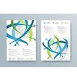 Business brochure flyer design layout template vector image vector image