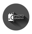 camera device sign icon in flat style photography vector image