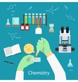 Chemistry laboratory concept vector image