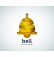 Christmas bell logo template vector image vector image