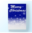 Christmas hollyday night card vector image vector image