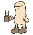coffee and puppet vector image vector image