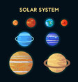 collection of flat icons solar system vector image