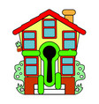 colorful little house sale abstraction vector image