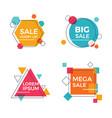 creative geometric sale banners vector image