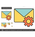 Email settings line icon vector image vector image