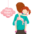 Father Carrying Sleeping Daughter vector image vector image