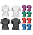 Female t-shirts Design template vector image vector image