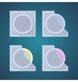 Flat icons of colored condom vector image vector image