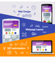 Flat material design banner vector image