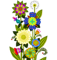 flowers colored vector image vector image