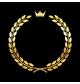 Gold laurel wreath crown leaf vector image vector image