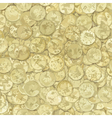 Golden coins texture vector image vector image
