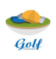 golf club sport vector image vector image