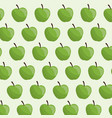 green apple fruit seamless pattern vector image vector image