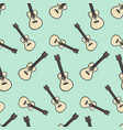 guitar seamless pattern background vector image vector image