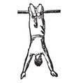 gymnastics vintage vector image vector image