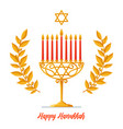 hanukkah card - happy hanukkah greeting vector image