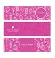 holiday lanterns line art horizontal banners set vector image