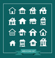 house icon real estate set for website vector image