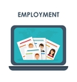 Job interview and laptop icon design vector image
